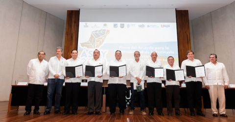 Firman seis instituciones educativas el Acuerdo para la Sustentabilidad de la región.